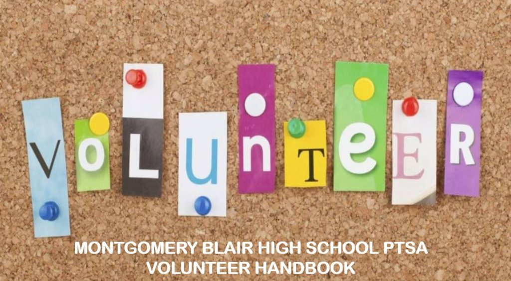 Blair HS PTSA Volunteer Handbook (sample image)